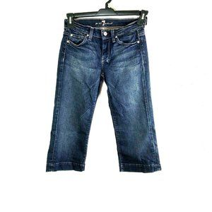 7 for All Mankind DOJO 26 Dark Wash Cropped Jeans